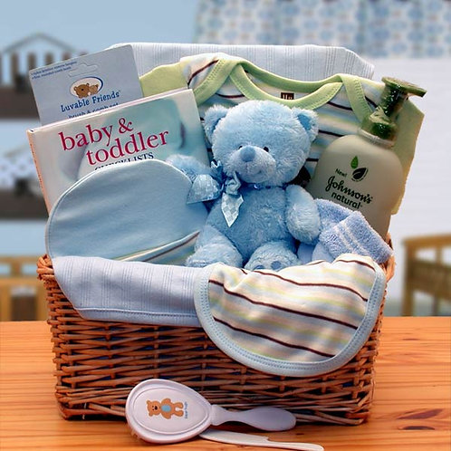 Organic New Baby Basics Baskets - Blue 890533-B
