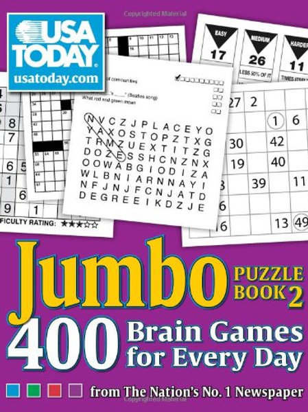 USA TODAY Jumbo Puzzle Book 2: 400 Brain Games for