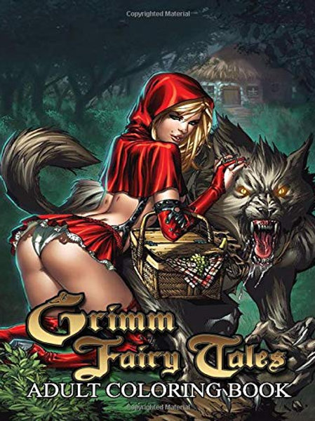 Grimm Fairy Tales Adult Coloring Book: Sexy Coloring Pages