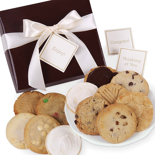 Gourmet Cookie Gift Box CB-BOX-ALL-BROWN12