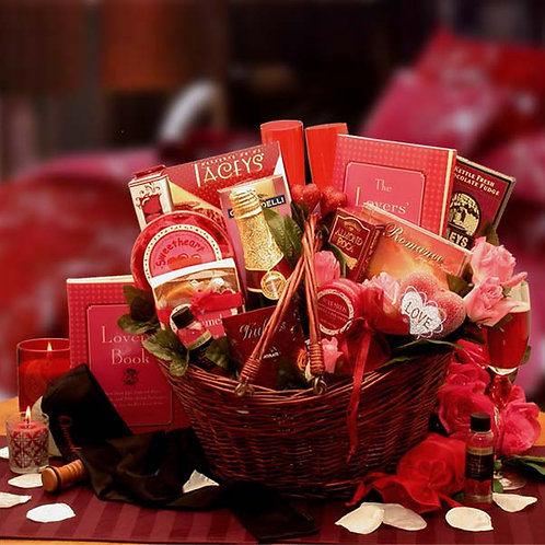 Heart To Heart Couples Romance Gift Basket 8161252