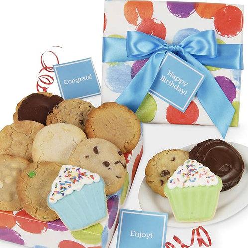 Celebration Cookie Gift Box CB-BOX-BIR-CIRCLE-12