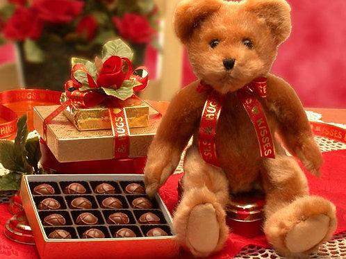 Hugs & Kisses Teddy Bear & Chocolates 816023