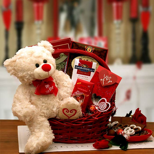 Say You'll Be Mine Valentine Gift Basket 8161972