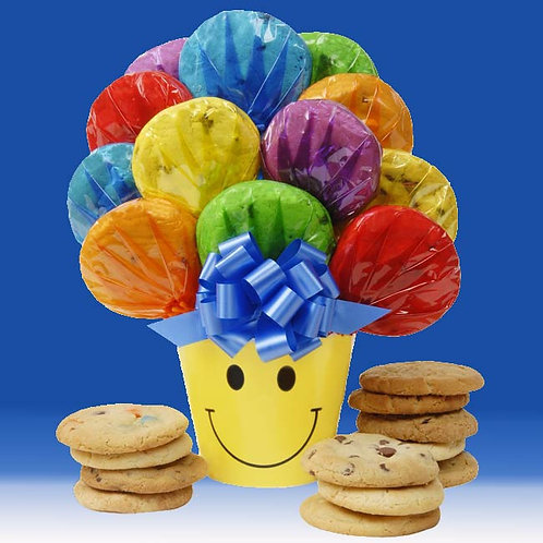 We make You Smile Cookie Bouquet - CB-ALL-POT-SMIL
