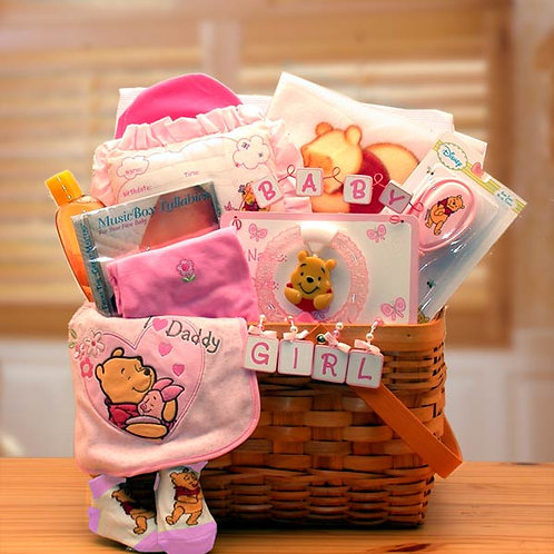 Winnie The Pooh New Baby Basket 890492 - Pink