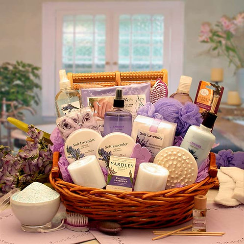 The Essence of Lavender Spa Gift Basket 8413112