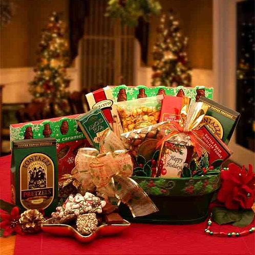 A Merry Christmas Greeting Gift Basket 816312