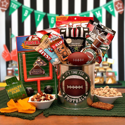 It's Football Time Gift Pail 852012