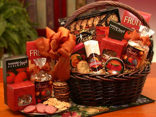 A Grand World Of Thanks Gourmet Gift Basket 830011