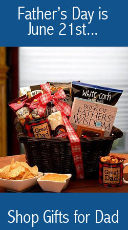 Giftbaskets for the father in your life.