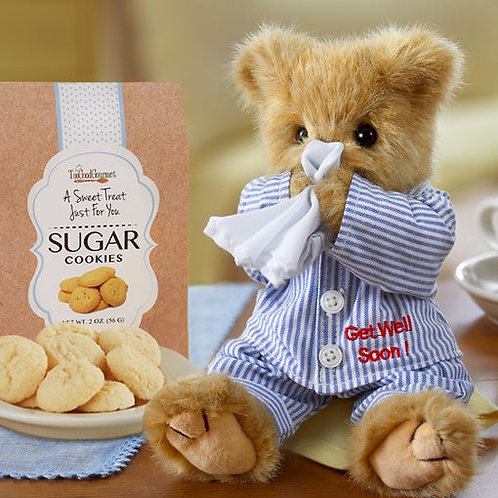 Get Well Bear with Cookies