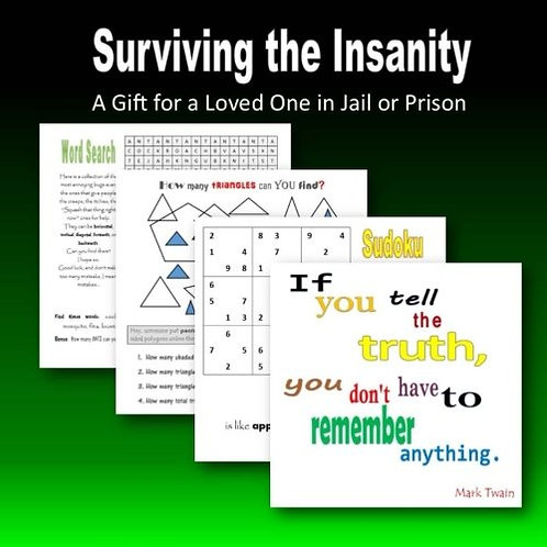 Surviving the Insanity: a gift for a loved one in jail or prison