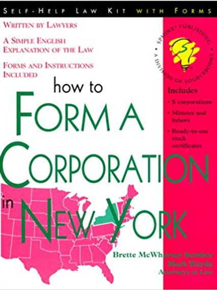 How to Form a Corporation in New York, 2nd Edition