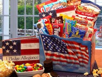 America The Beautiful Snack Gift Box- Med. 820212