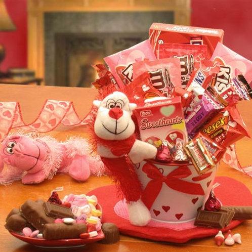 Monkey Love Valentines Gift Pail 8160352