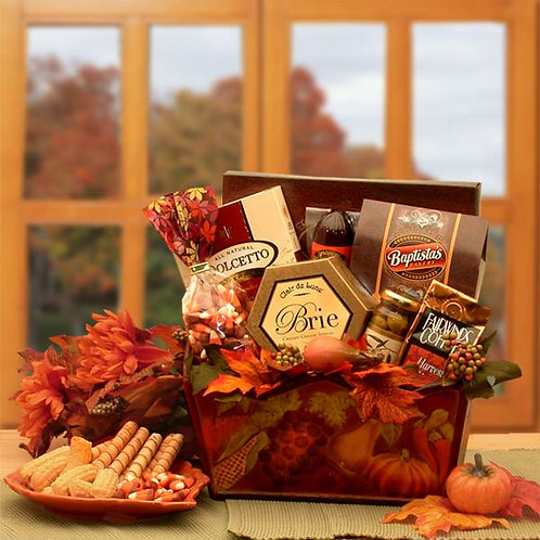 A Gourmet Fall Harvest Fall Gift Basket 91632
