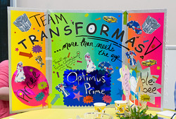 Colorful team spirit from Team TransFormas, sponsored by Forma Construction!