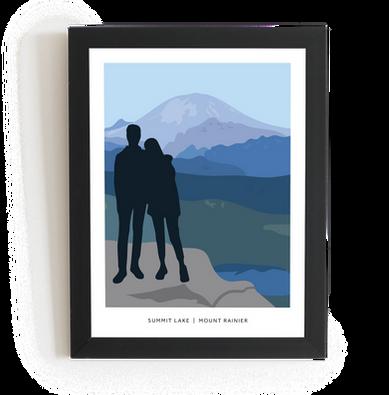 Mount Rainier Illustration
