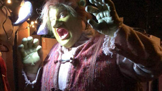 """In Prosthetic Makeup and Padding for """"Shrek: The Musical"""" Los Angeles"""