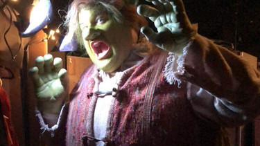 "In Prosthetic Makeup and Padding for ""Shrek: The Musical"" Los Angeles"