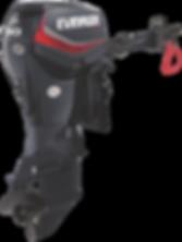Evinrude E-TEC 60HP Tiller Steer Graphite