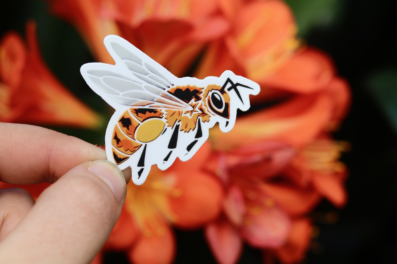 Honeybee Vinyl and weatherproof sticker-