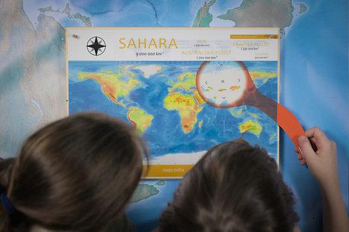 Atlas světa - Montessori poznávací sada