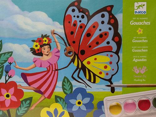 Djeco akvarelový  výtvarný set - Malenka