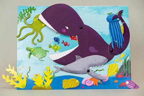 Djeco kreativní sada Pohyblivé obrázky - Zvířátka