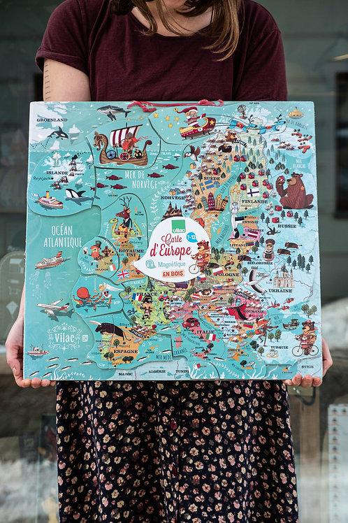 Mapa Evropy Vilac