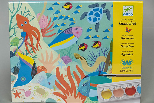 Djeco akvarelový výtvarný set - Barevný svět přírody