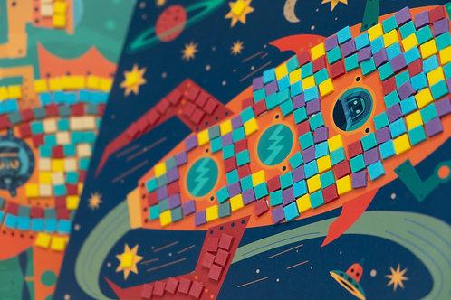 Djeco kreativní sada Mozaika - Za volantem