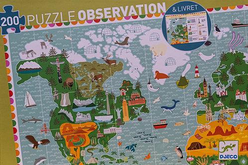 Puzzle Observation 200 dílků - Kolem světa