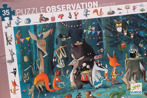 Puzzle Observation 35 dílků - Lesní orchestr