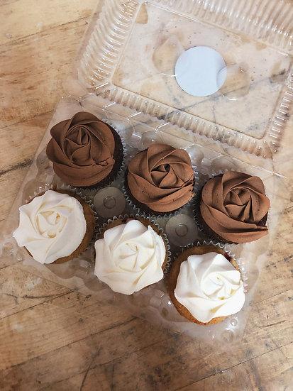6 Pack de Cupcakes (mélangés)