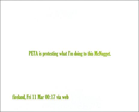 PETA is protesting