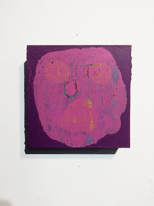 Exercise Peanut, 2013, acrylic on panel, 8 x 8 inches