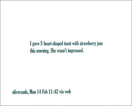 I gave S heart-shaped