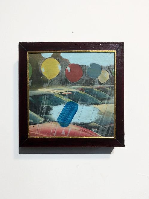 Diamond Prevention, 2013, acrylic on panel, 8 x 8 inches