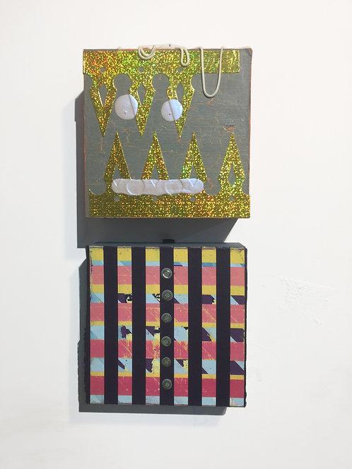 AKA 5, 2013-2021, acrylic on panels, each 8 x 8 inches