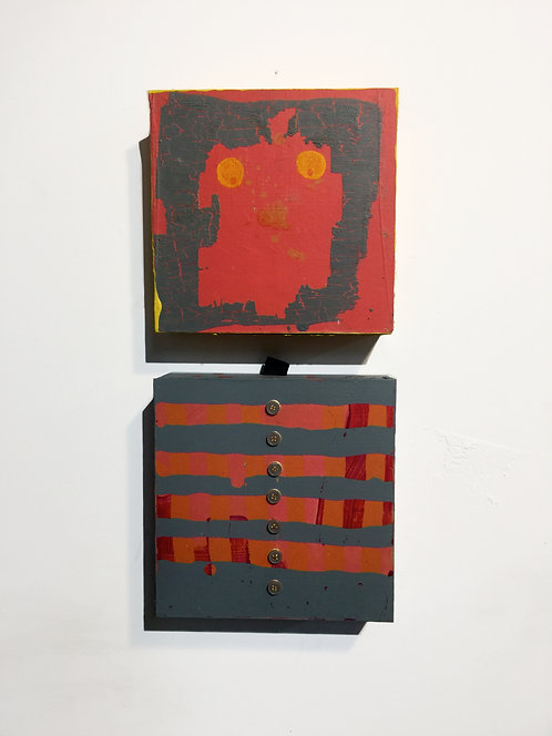 AKA 6, 2013-2021, acrylic on panels, each 8 x 8 inches