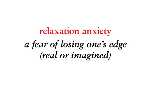 relaxation anxiety