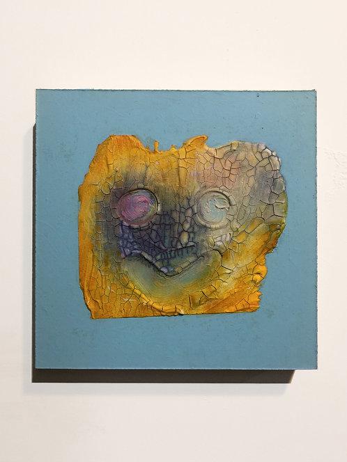 Lemon Skunk, 2011, acrylic on panel, 10 x 10 inches