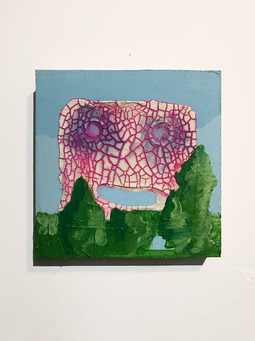 The Ultimate, 2011, acrylic on panel, 10 x 10 inches