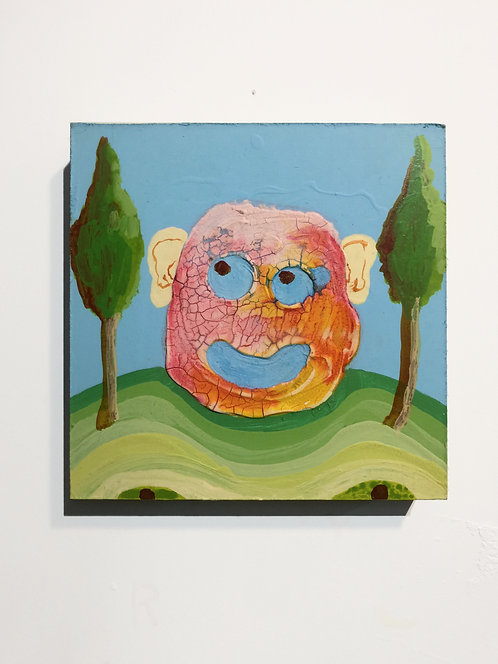 Sour Diesel , 2011, acrylic on panel, 10 x 10 inches