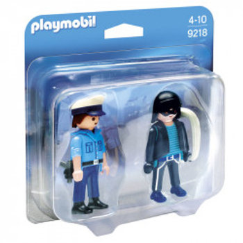 PLAYMOBIL 9218 DUO PACK POLICIA Y LADRON CITY ACTION