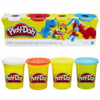 PLAY DOH PACK 4 BOTES COLORES