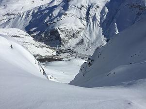 Tignes offpiste Snowboarding