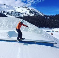 Freestyle boardslide